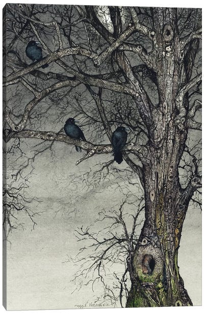 The Roosting Place Canvas Art Print