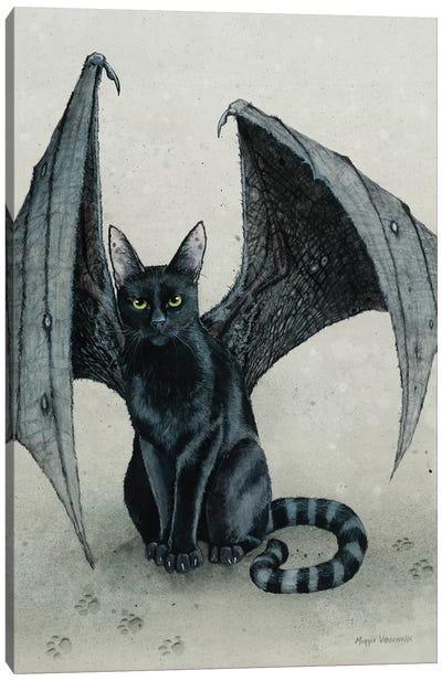 The City Battycat Canvas Art Print