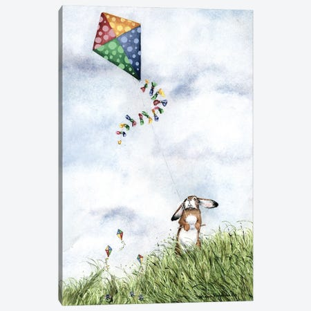 With Tuppence For Paper And Strings... Canvas Print #MVA118} by Maggie Vandewalle Canvas Artwork