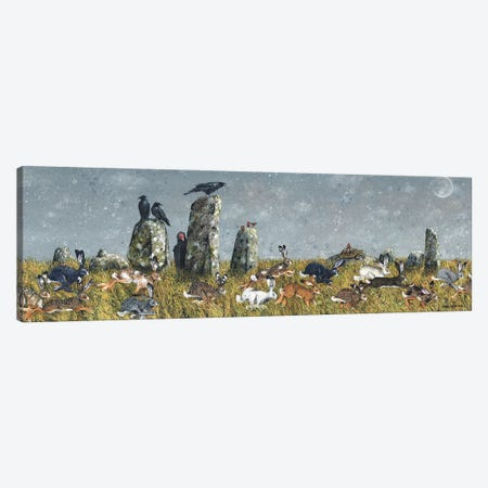 The Running Of The Hares Canvas Print #MVA129} by Maggie Vandewalle Art Print