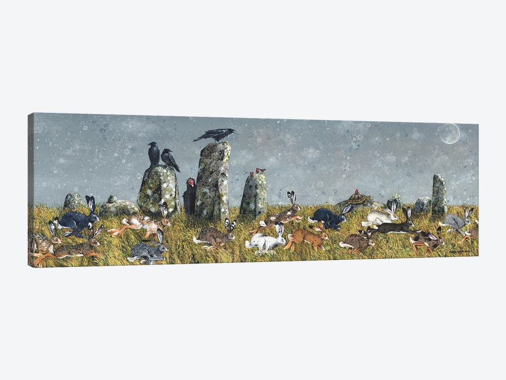 The Running Of The Hares by Maggie Vandewalle 1-piece Art Print