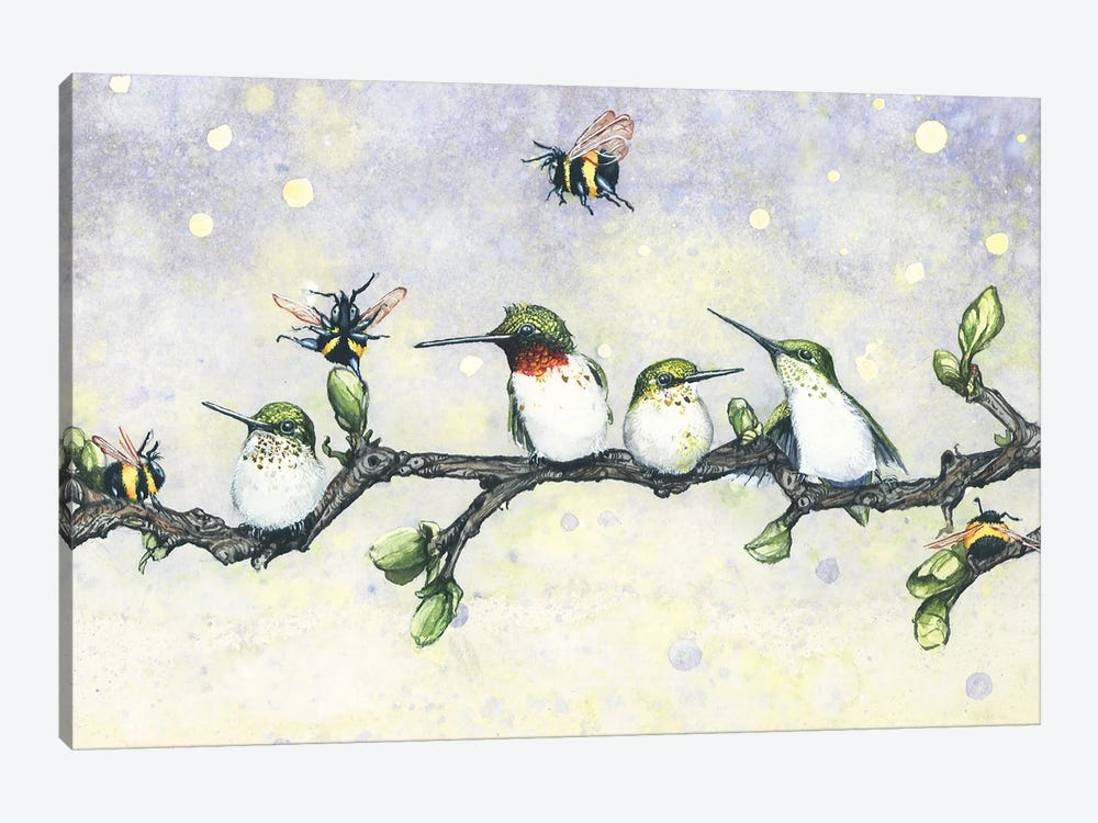 The Birds and the Bees by Maggie Vandewalle 1-piece Canvas Artwork