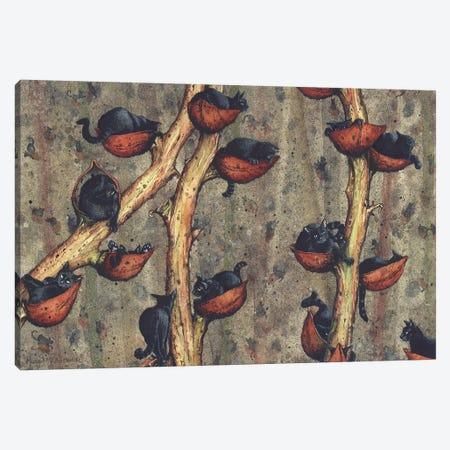 Catkins 3-Piece Canvas #MVA16} by Maggie Vandewalle Canvas Artwork