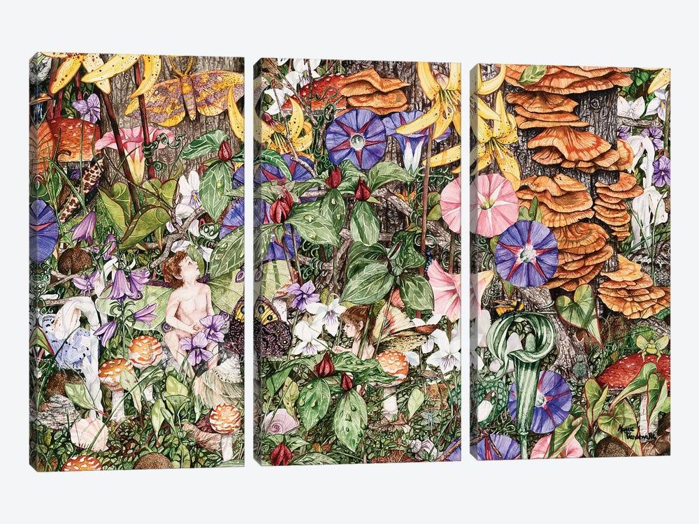 Fairies' Fairies by Maggie Vandewalle 3-piece Canvas Artwork
