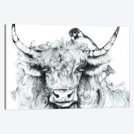 Fergus Braced Himself For Another Spring Canvas Print #MVA34} by Maggie Vandewalle Canvas Artwork