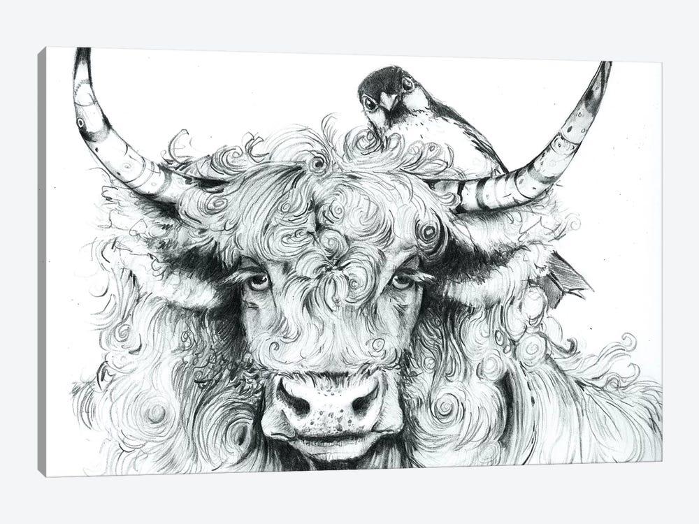 Fergus Braced Himself For Another Spring by Maggie Vandewalle 1-piece Art Print