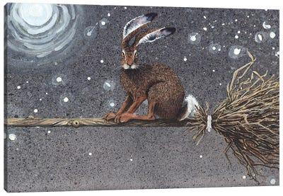 Flyaway Hare Canvas Art Print