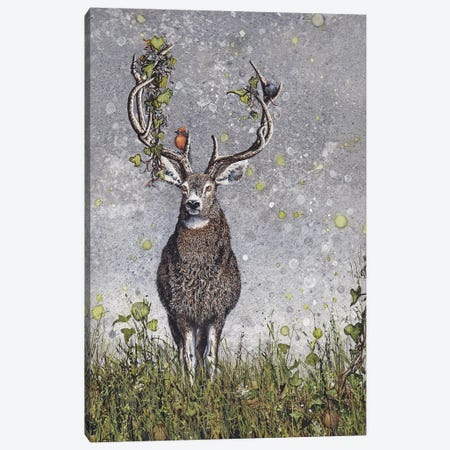 Stag Canvas Print #MVA65} by Maggie Vandewalle Canvas Print