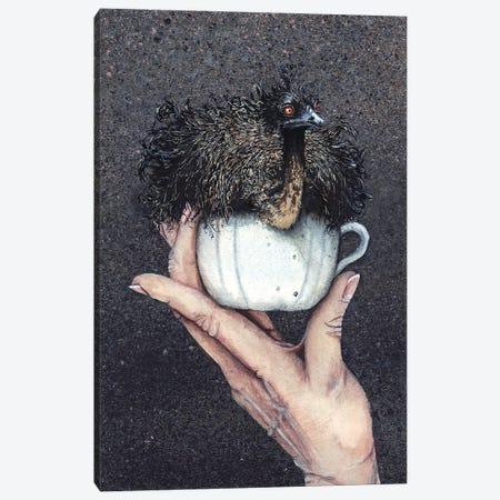 Teacup Emu Canvas Print #MVA70} by Maggie Vandewalle Canvas Art Print