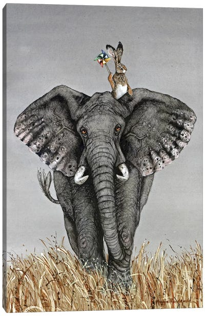 After The Parade Canvas Art Print