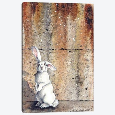 Concrete Bunny Canvas Print #MVA88} by Maggie Vandewalle Canvas Artwork