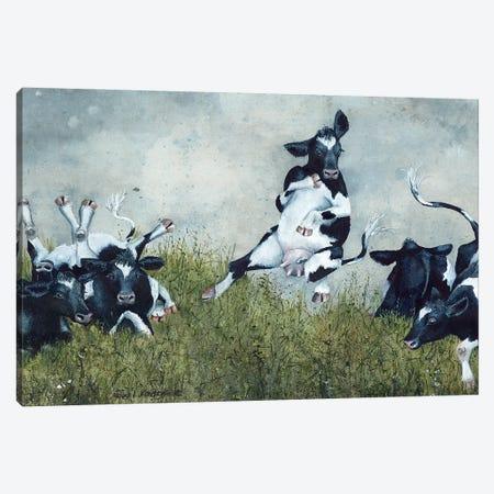 Hare Brained 3-Piece Canvas #MVA90} by Maggie Vandewalle Canvas Print