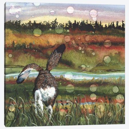 Lolloping Canvas Print #MVA93} by Maggie Vandewalle Art Print