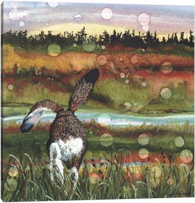 Lolloping Canvas Art Print