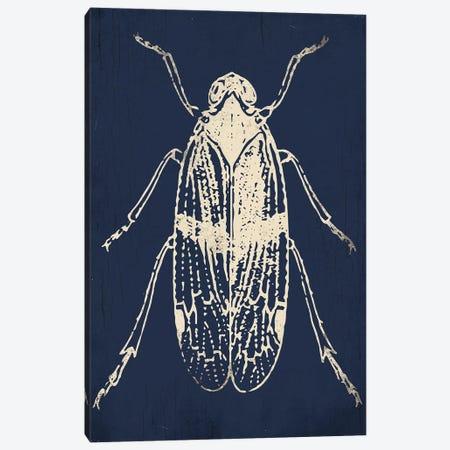 Bug Life Blue One Canvas Print #MVI118} by Mlli Villa Canvas Print
