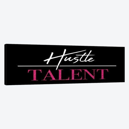 Hustle Over Talent 3-Piece Canvas #MVI134} by Mlli Villa Canvas Art