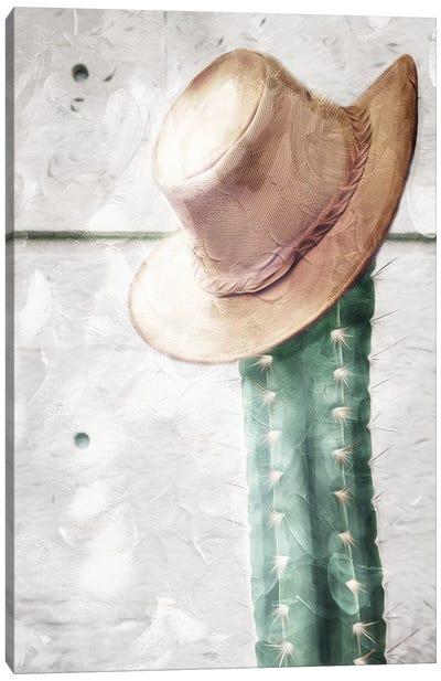 Cactus Hat Canvas Art Print
