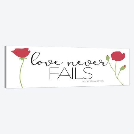 Love Never Fails Canvas Print #MVI141} by Mlli Villa Canvas Art