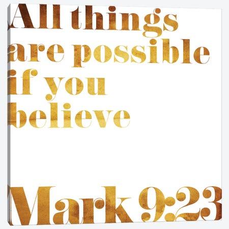 Mark 9:23 Text Canvas Print #MVI143} by Mlli Villa Canvas Art