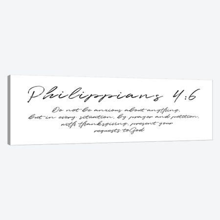Script Philippians Canvas Print #MVI148} by Mlli Villa Canvas Art