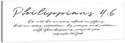 Script Philippians Canvas Art Print