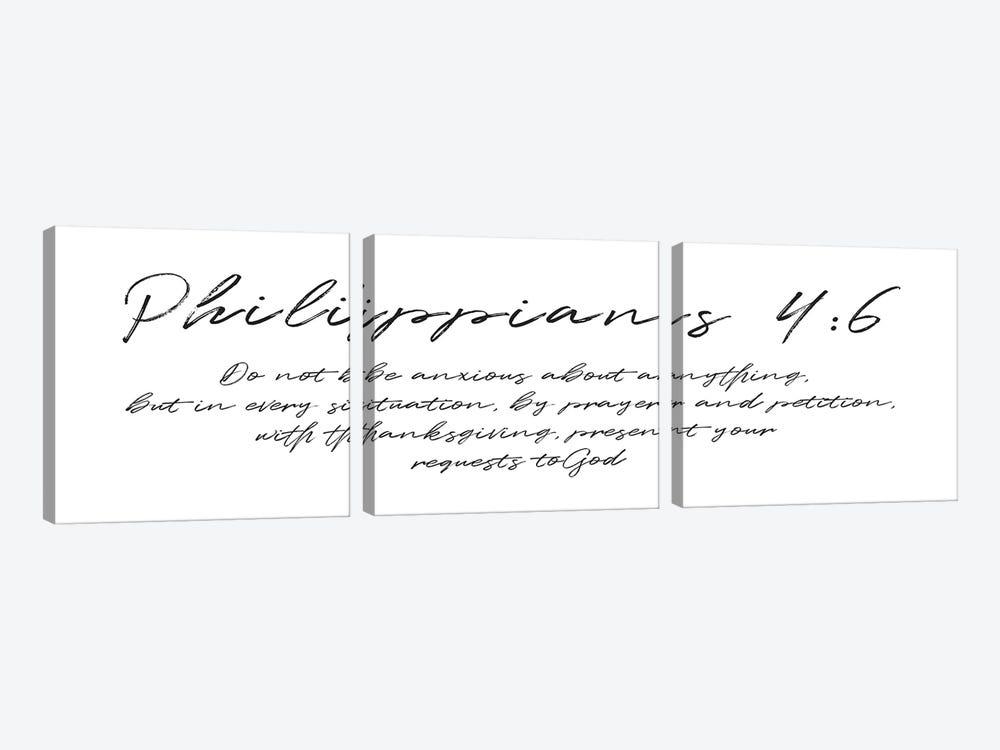 Script Philippians by Mlli Villa 3-piece Art Print