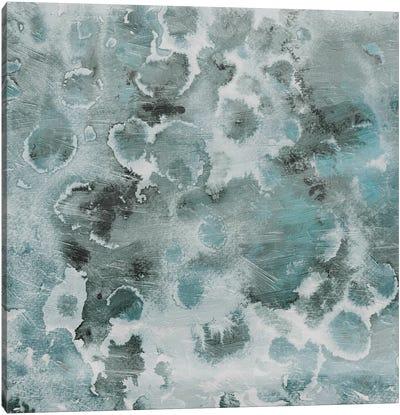 Cool Blue Flower Bursts Canvas Art Print