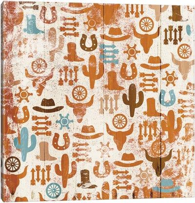 Western Print Canvas Art Print