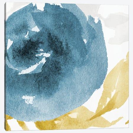 Floral Blues 3-Piece Canvas #MVI167} by Mlli Villa Canvas Art Print