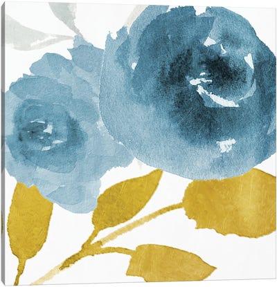 Floral Blues Mate Canvas Art Print