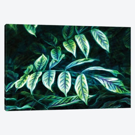 Electric Leaves Canvas Print #MVI173} by Mlli Villa Art Print