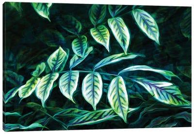 Electric Leaves Canvas Art Print