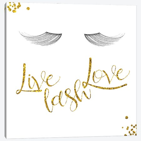 Live Lash Love Canvas Print #MVI191} by Mlli Villa Art Print