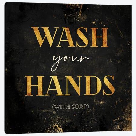 Wash Your Hands Canvas Print #MVI195} by Mlli Villa Canvas Wall Art