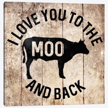 Moo And Back Canvas Print #MVI26} by Mlli Villa Canvas Art Print