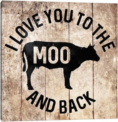 Moo And Back Canvas Art Print