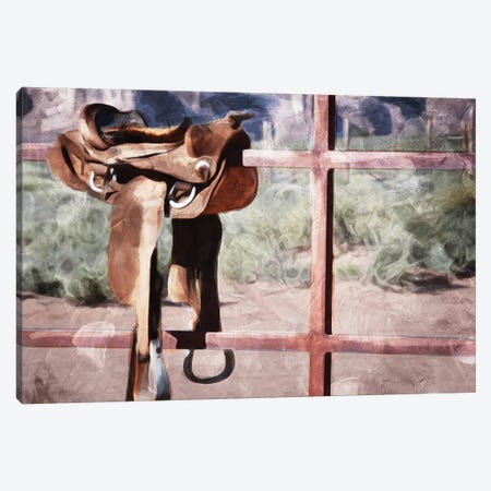 Saddle Up Canvas Print #MVI27} by Mlli Villa Canvas Art Print