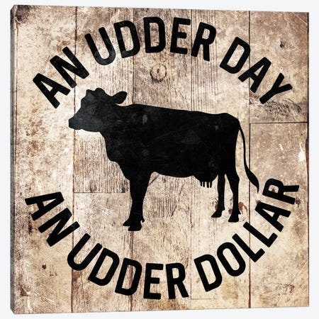 Udder Day Canvas Print #MVI32} by Mlli Villa Canvas Print