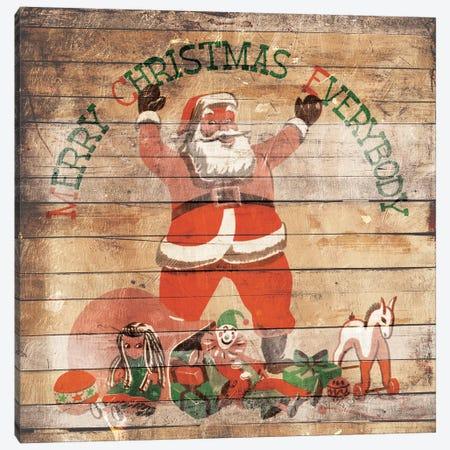 Merry Christmas Everybody Canvas Print #MVI33} by Mlli Villa Canvas Art Print