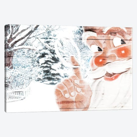 Peekaboo Santa Canvas Print #MVI35} by Mlli Villa Canvas Artwork