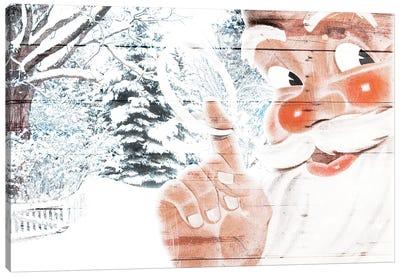 Peekaboo Santa Canvas Art Print