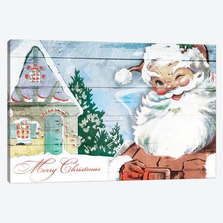 Winking Santa Canvas Print #MVI36} by Mlli Villa Canvas Artwork