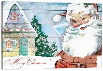 Winking Santa Canvas Art Print
