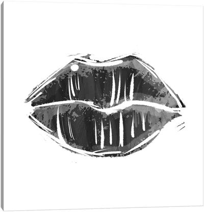 Black Lips Canvas Art Print