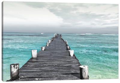 Dock At Sea Recolor Canvas Art Print
