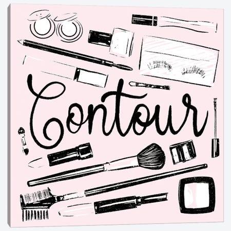Contour Of Pink Canvas Print #MVI45} by Mlli Villa Art Print