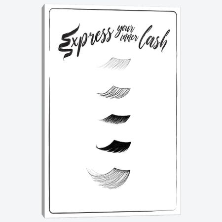 Express Your Inner Lash Canvas Print #MVI48} by Mlli Villa Canvas Wall Art