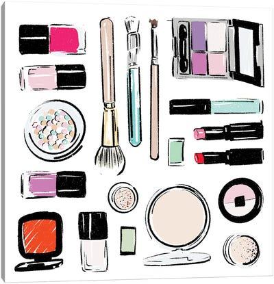 Extra Make Up Tools Canvas Art Print