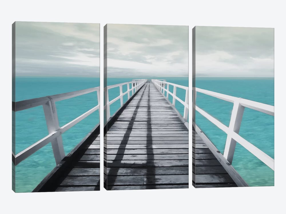 Dock Out by Mlli Villa 3-piece Canvas Wall Art