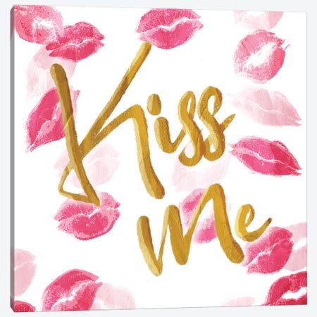 Kiss Me Canvas Print #MVI56} by Mlli Villa Canvas Art